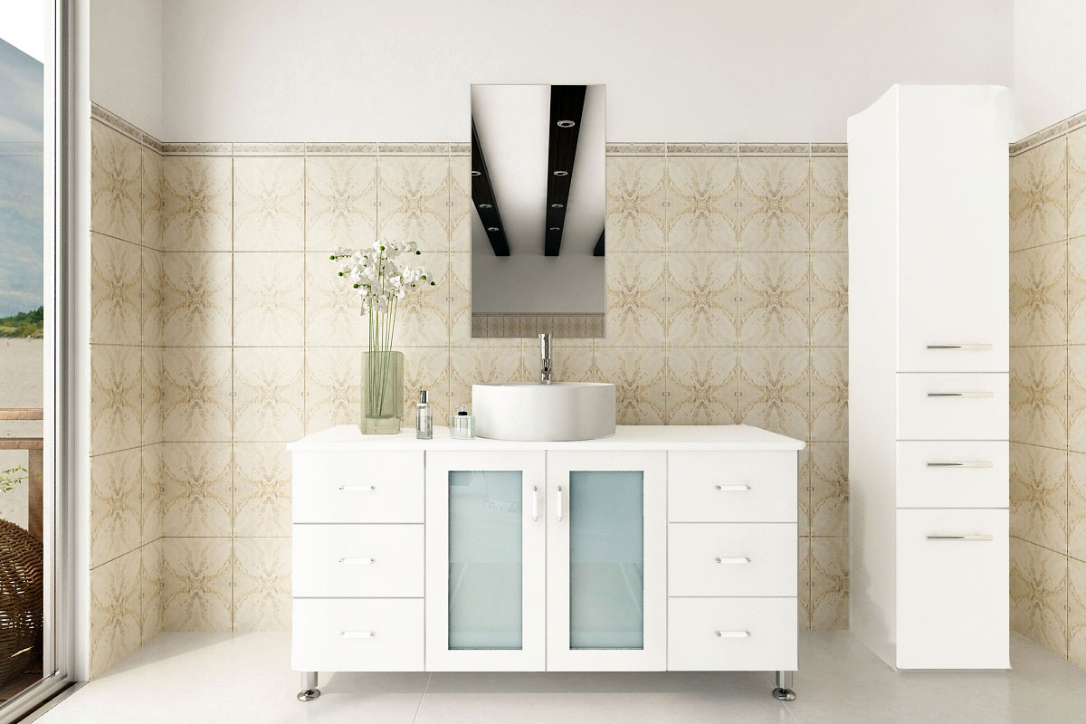 "47"" Grand Lune Single Bath Vanity - White"