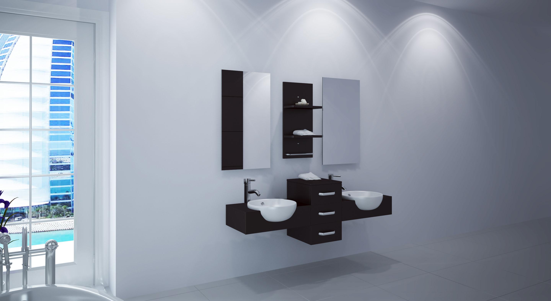 """59"""" Modus Double Wall-Mounted Bath Vanity"""