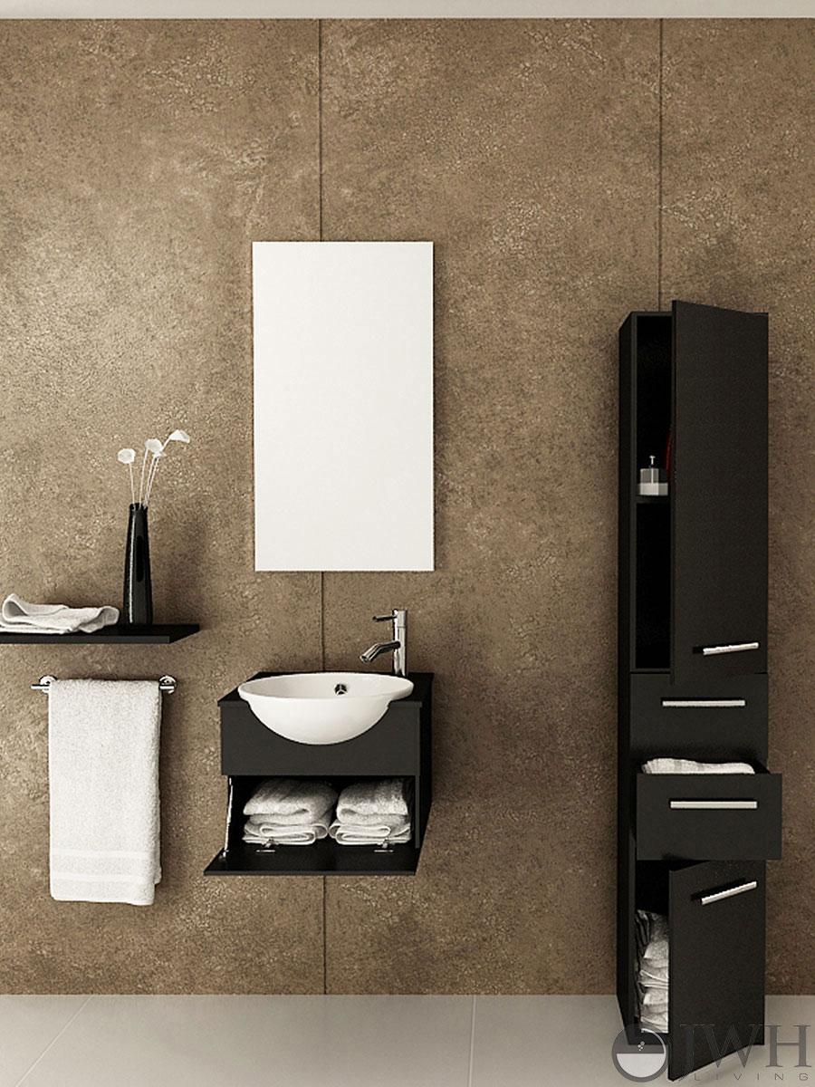 "20.9"" Mira Single Wall-Mounted Bath Vanity"