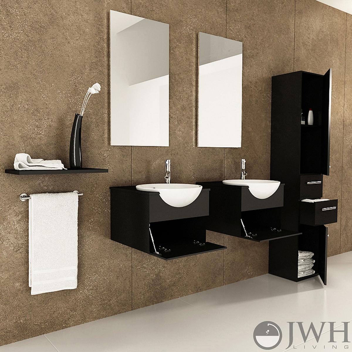 42 Quot Mira Double Bathroom Vanity Espresso Bathgems Com
