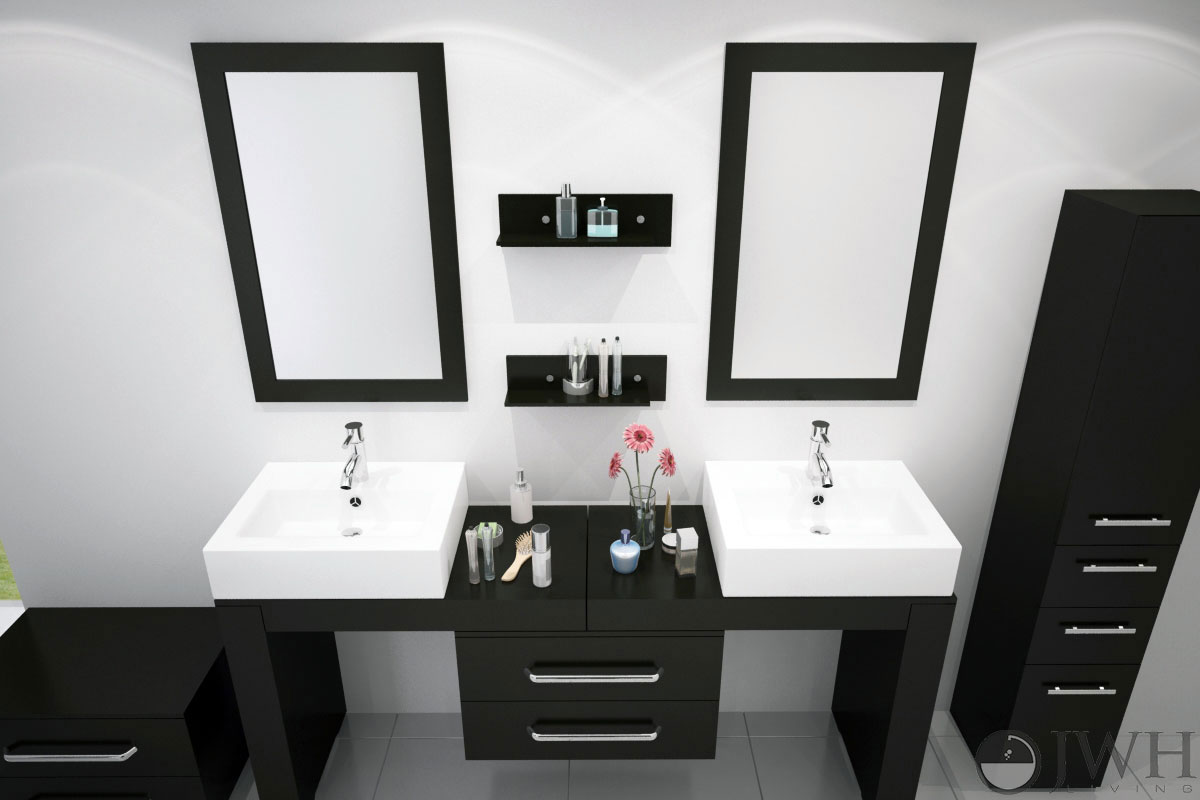 "67"" to 114"" Scorpio Double Vessel Sink Vanity"