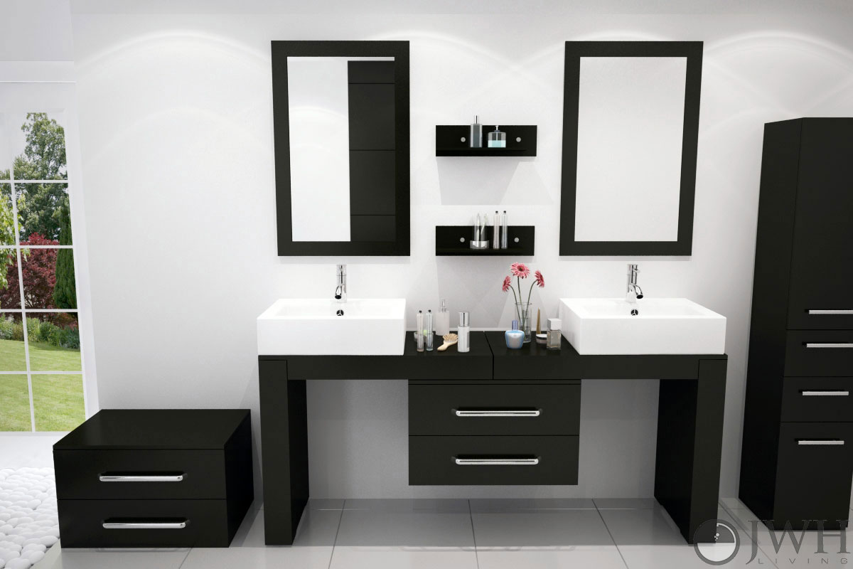 "67"" to 114"" Scorpio Double Vessel Sink Vanity"