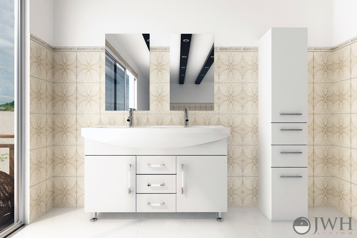48 Celine Double Bathroom Vanity White