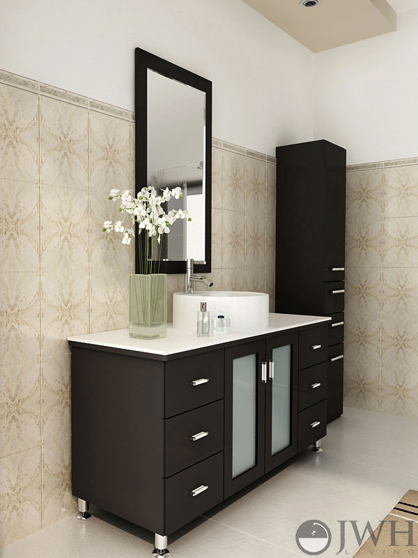 Espresso bathroom vanity with top bathroom design ideas for Espresso bathroom ideas