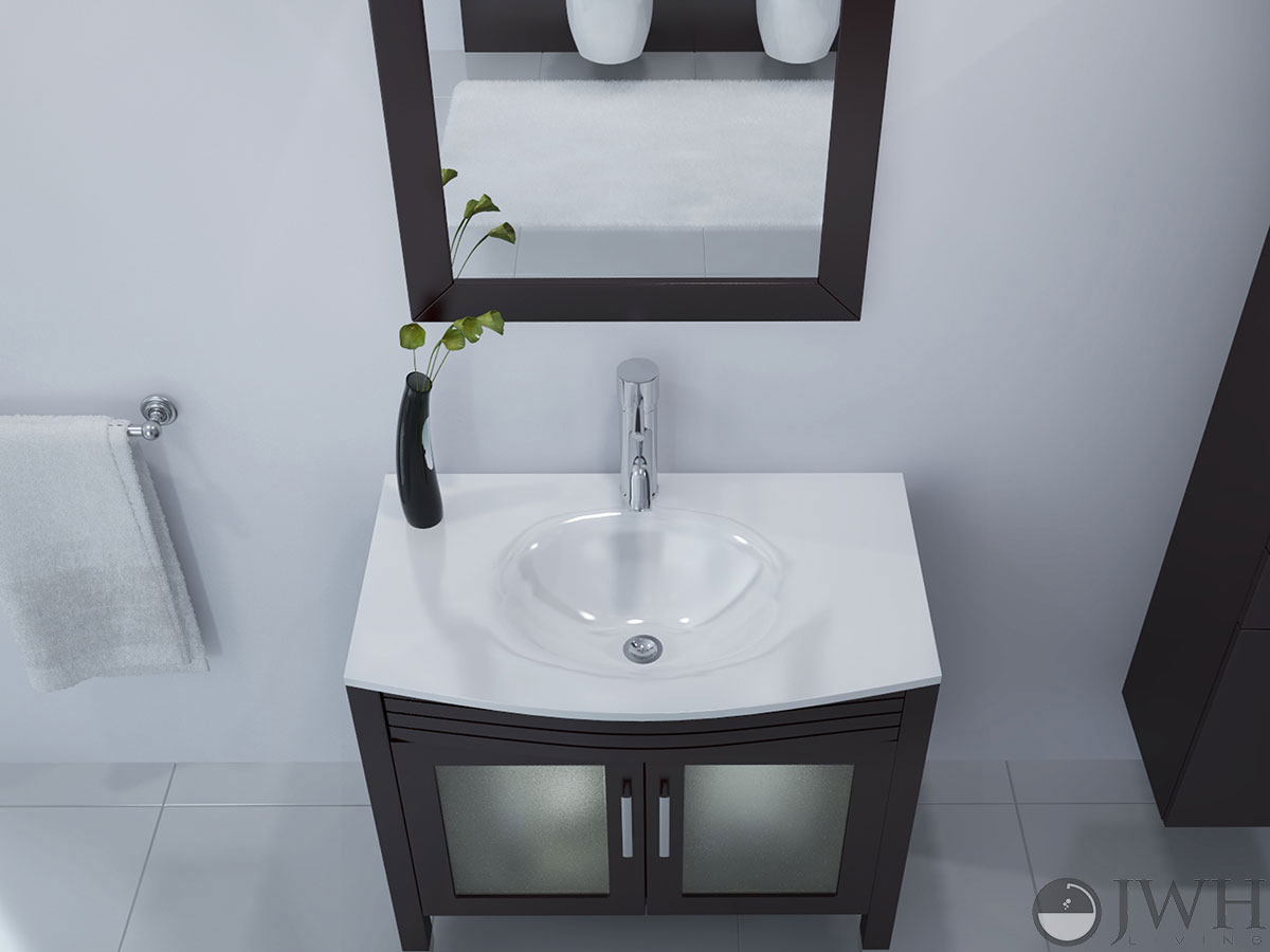 "35.5"" Ludwig Single Bath Vanity - Stone Top"