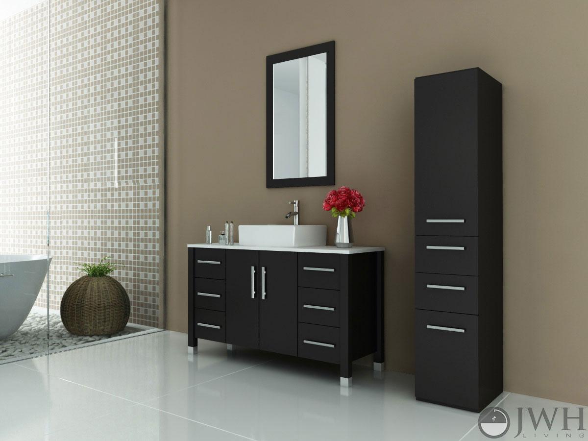 Grand Crater Single Bathroom Vanity Bathgemscom - 47 bathroom vanity sink cabinet