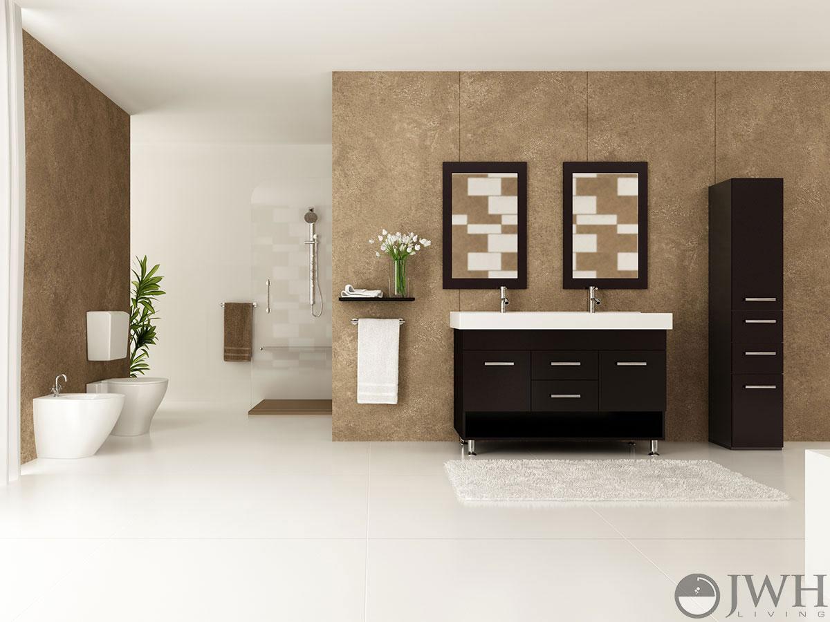 48 in double sink vanity. 48  Rigel Double Sink Vanity Bathroom Espresso Bathgems Com