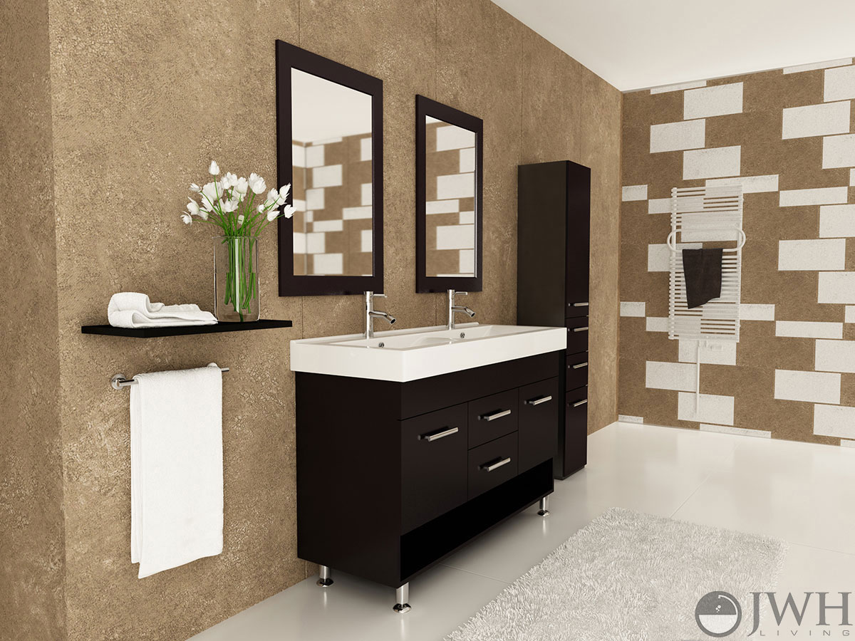 5 double sink vanity. 48  Rigel Double Sink Vanity Bathroom Espresso Bathgems com
