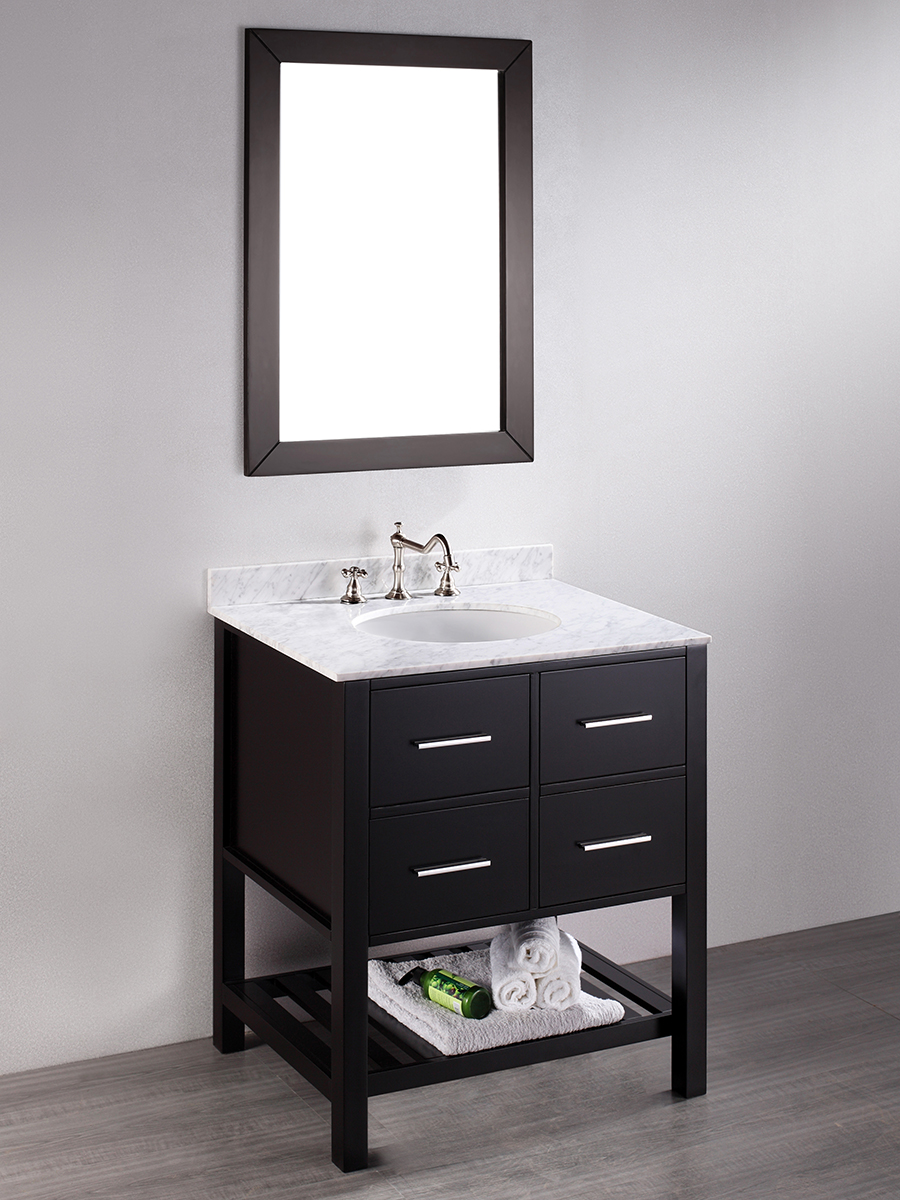 "30"" Alegra Single Bath Vanity with Included Mirror"