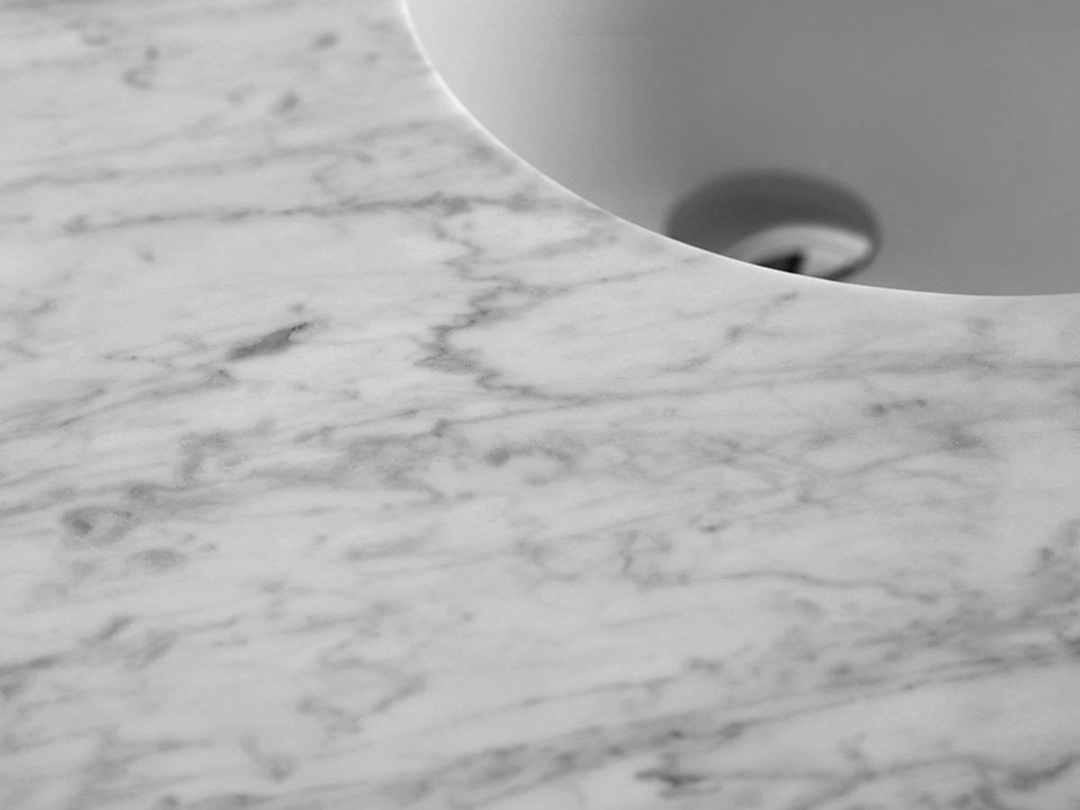 White Carrera Marble Top