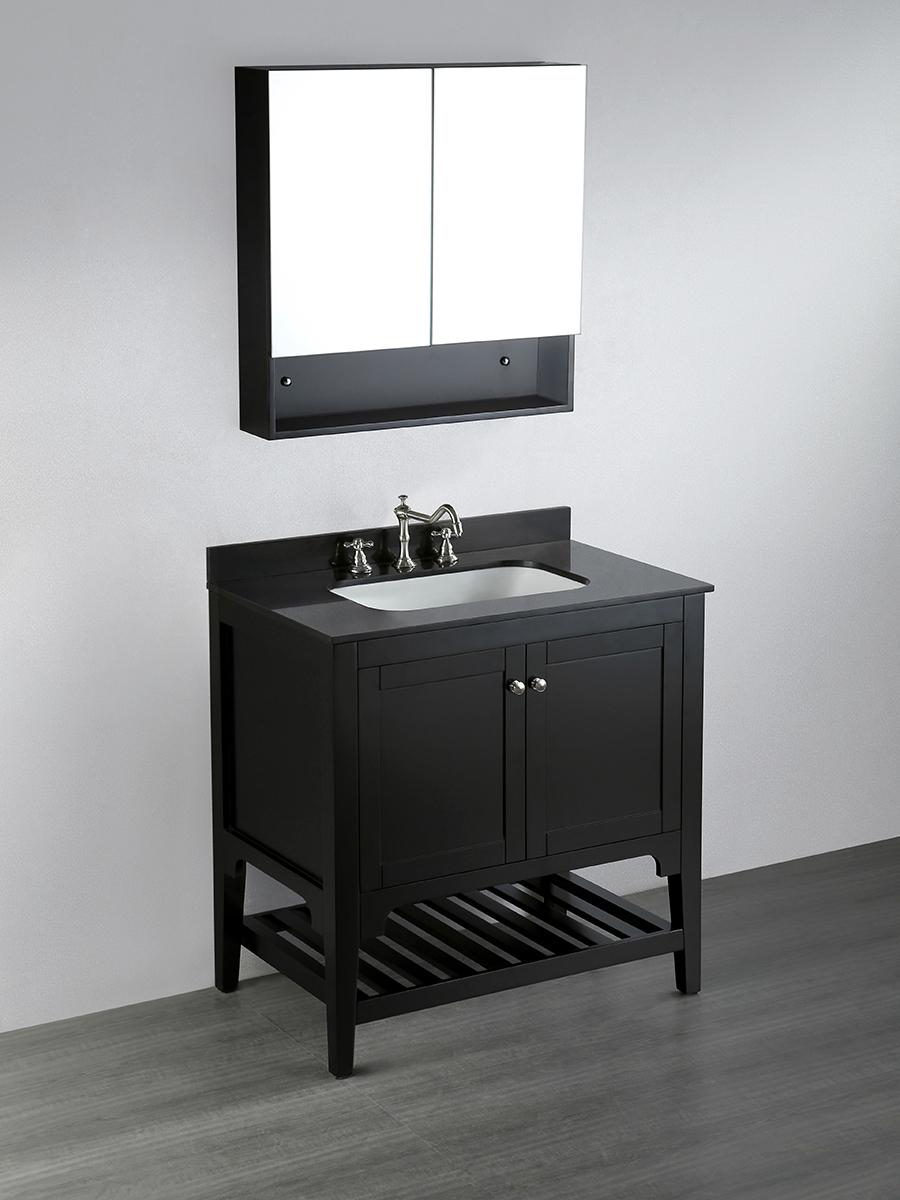 """33"""" Ontario Single Bath Vanity with Included Medicine Cabinet"""