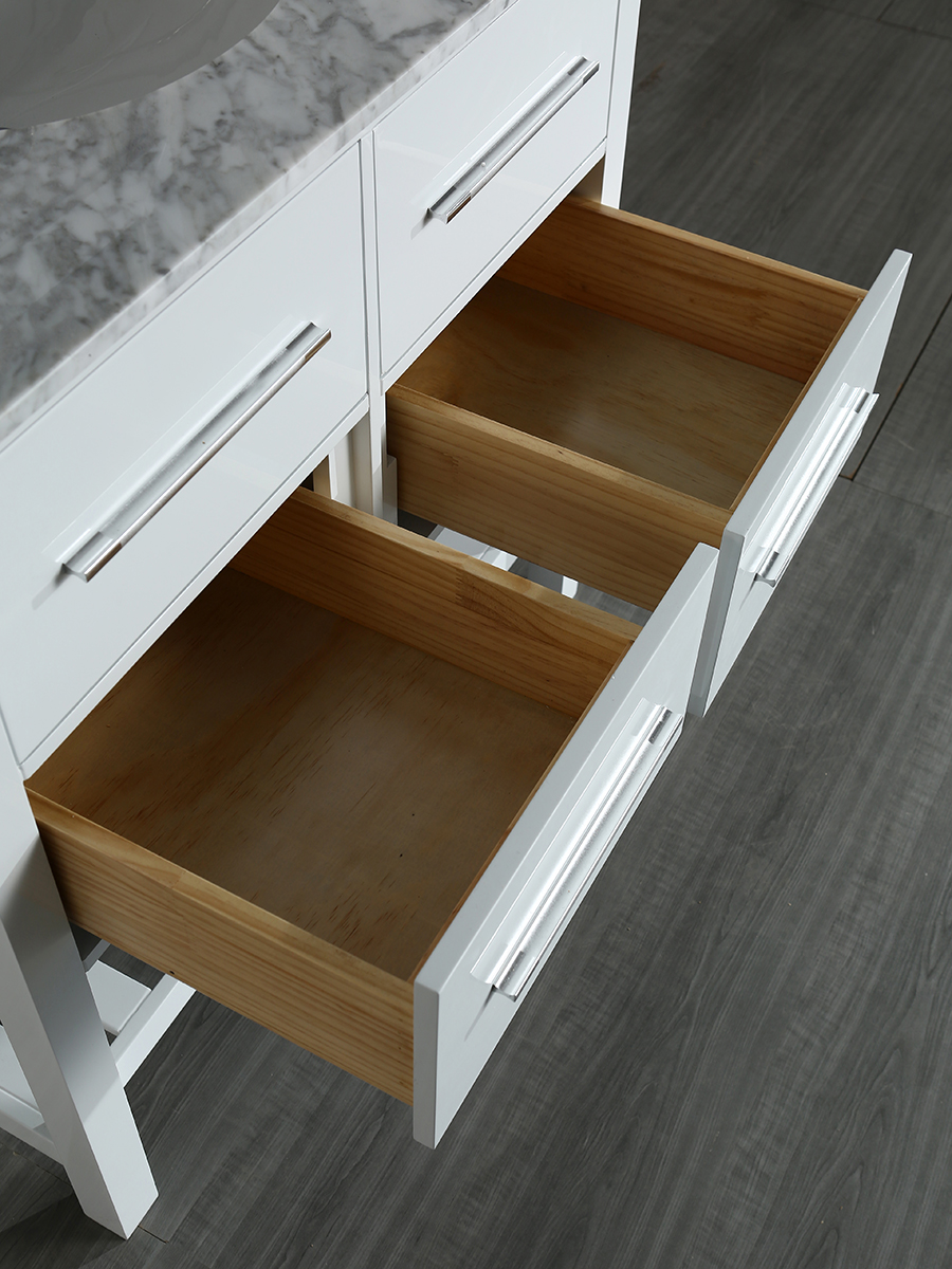 Lower drawer storage