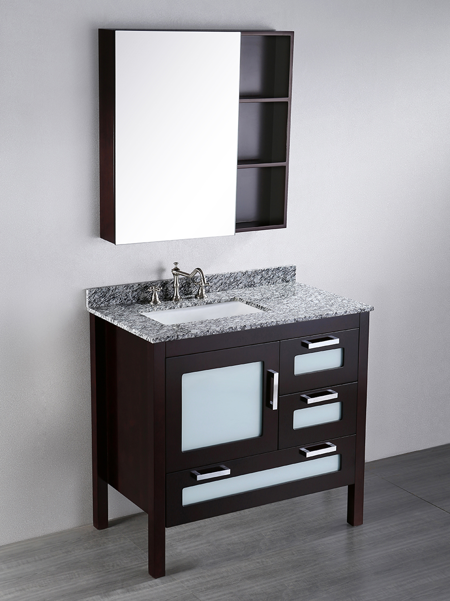 "37"" Harmun Single Bath Vanity With Medicine Cabinet"