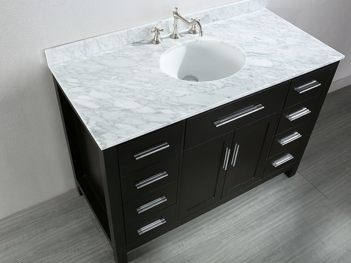 White Carrera Marble Top