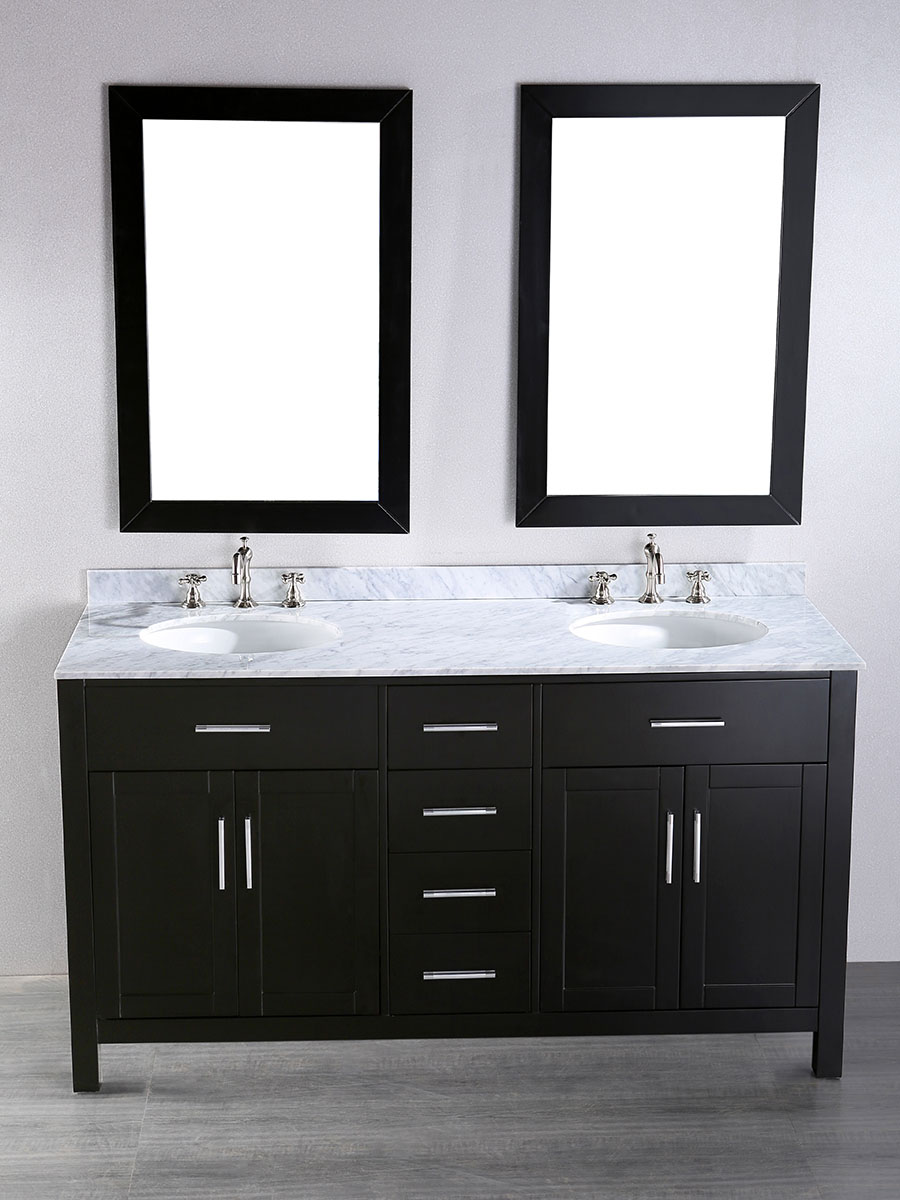 "60"" Constanza Double Sink Vanity With Mirrors"