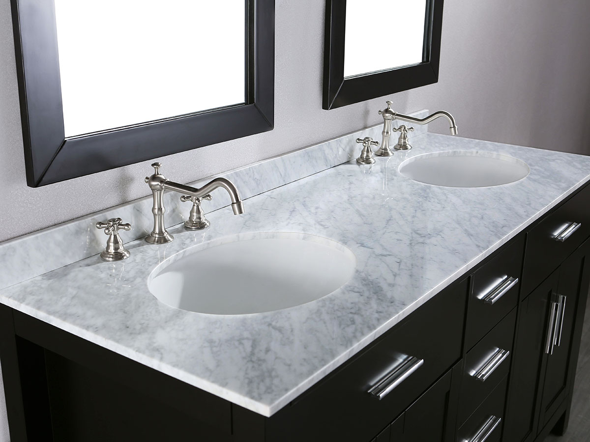 Carrera White Marble Top