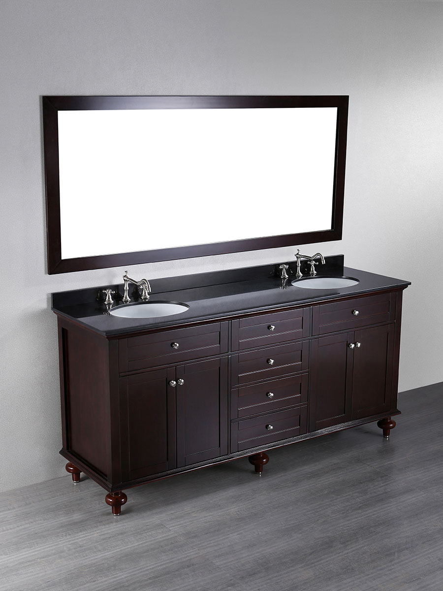"""73"""" Olmega Double Sink Vanity"""