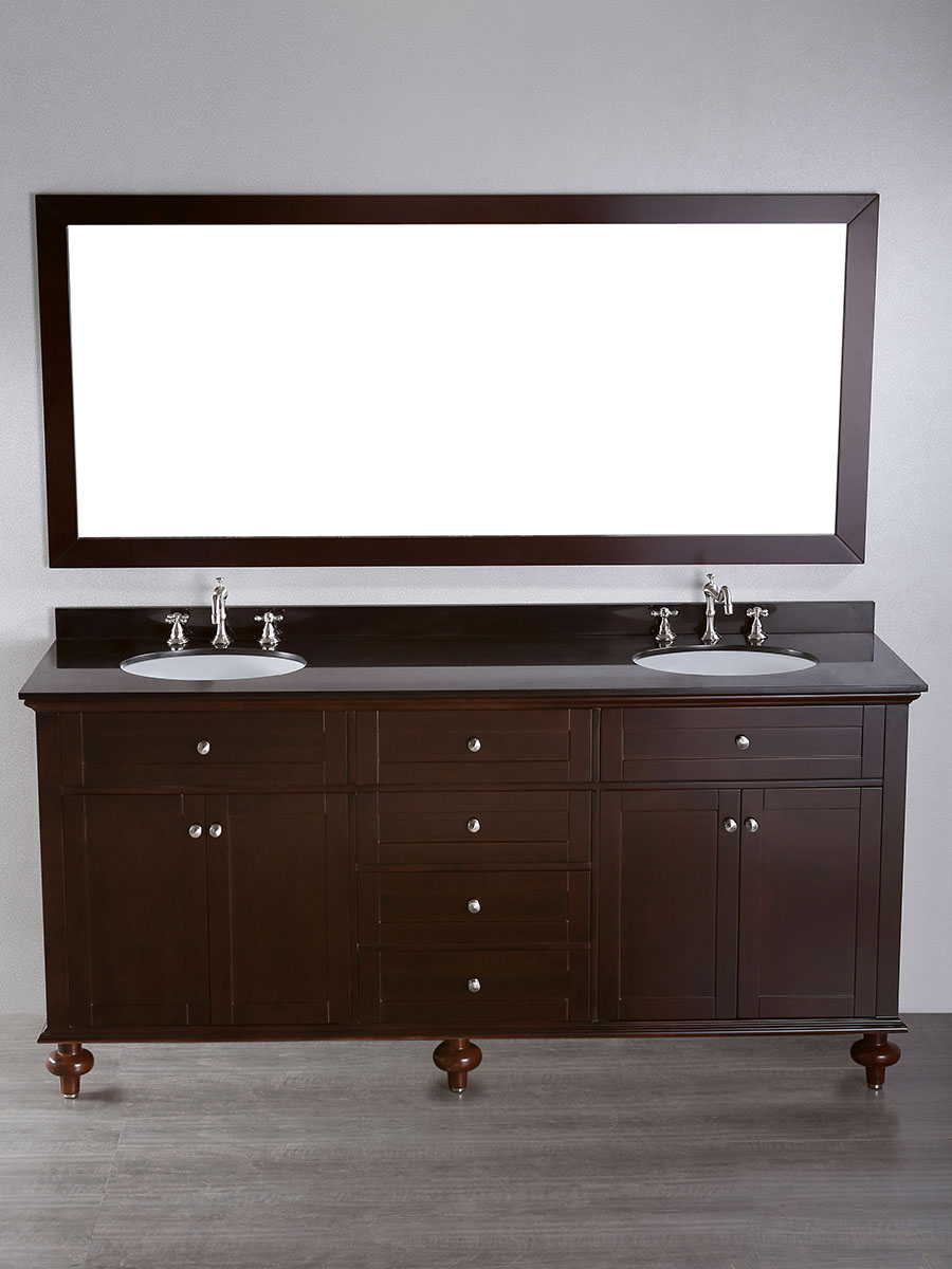"73"" Olmega Double Sink Vanity With Mirror"