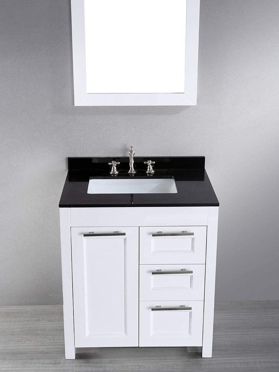 """30"""" Valencia Single Bath Vanity With Mirror"""