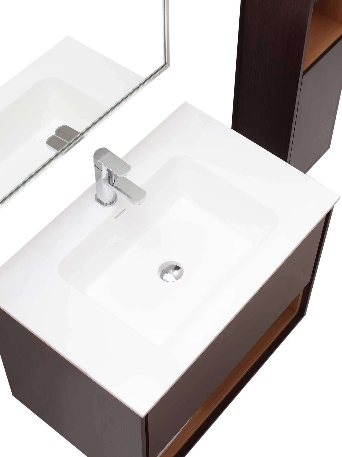 "31.5"" Sophora Single Bath Vanity - Iron Wood - Top View"