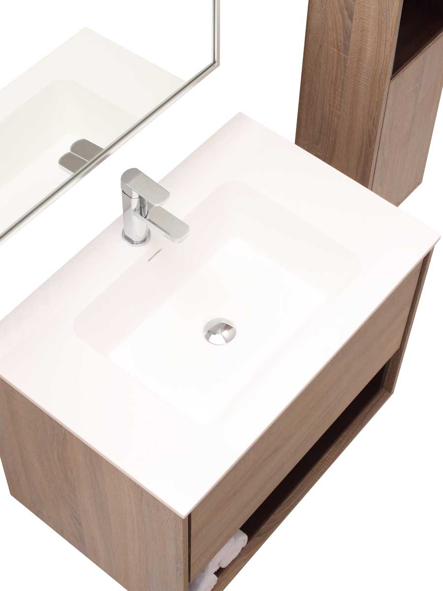 "31.5"" Sophora Single Bath Vanity - Restored Khaki - Top View"