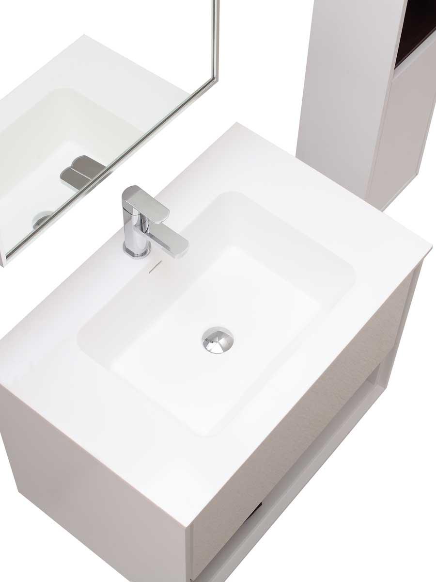 "31.5"" Sophora Single Bath Vanity - White - Top View"