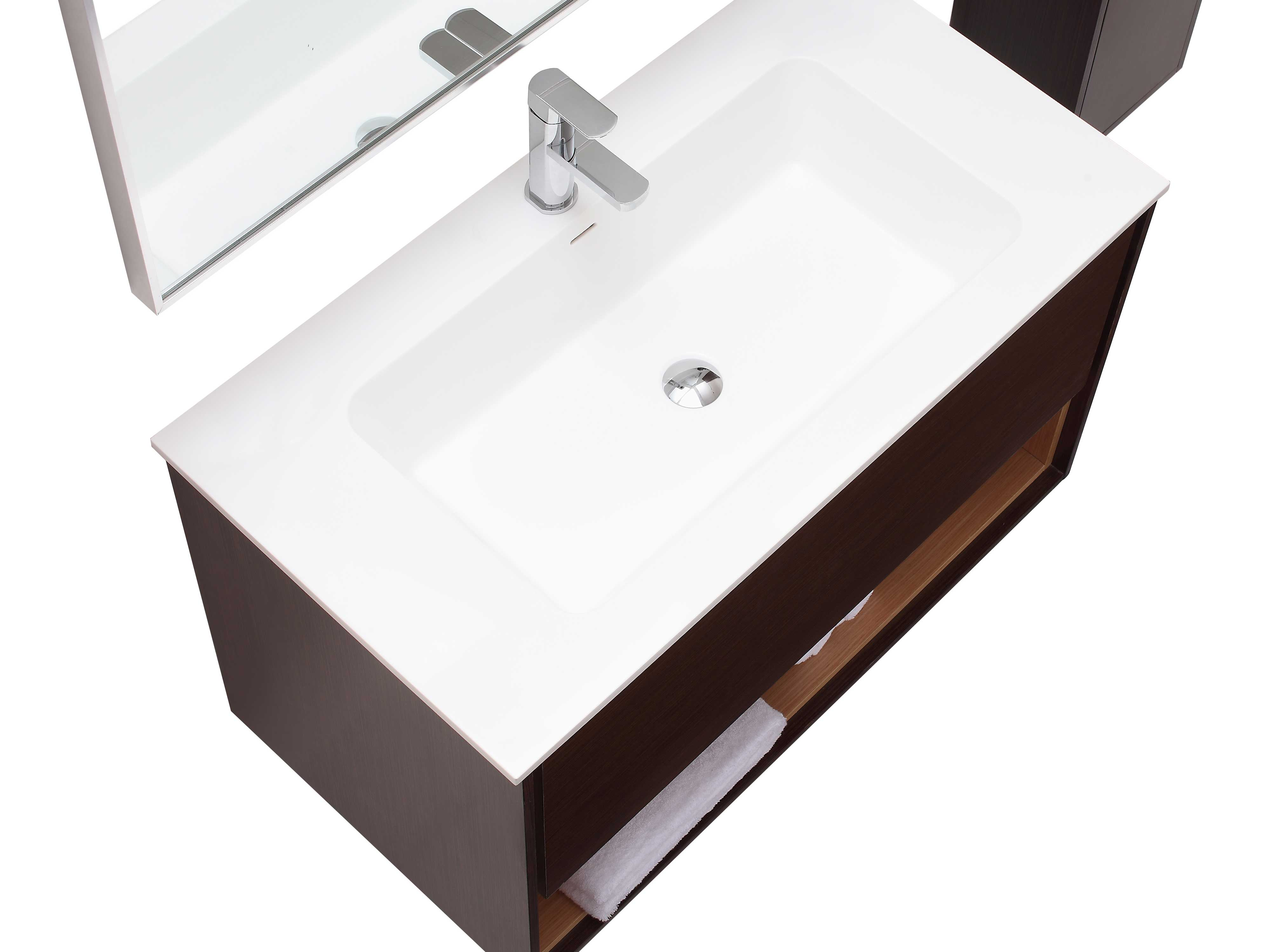 "39.4"" Sophora Single Bath Vanity - Iron Wood"