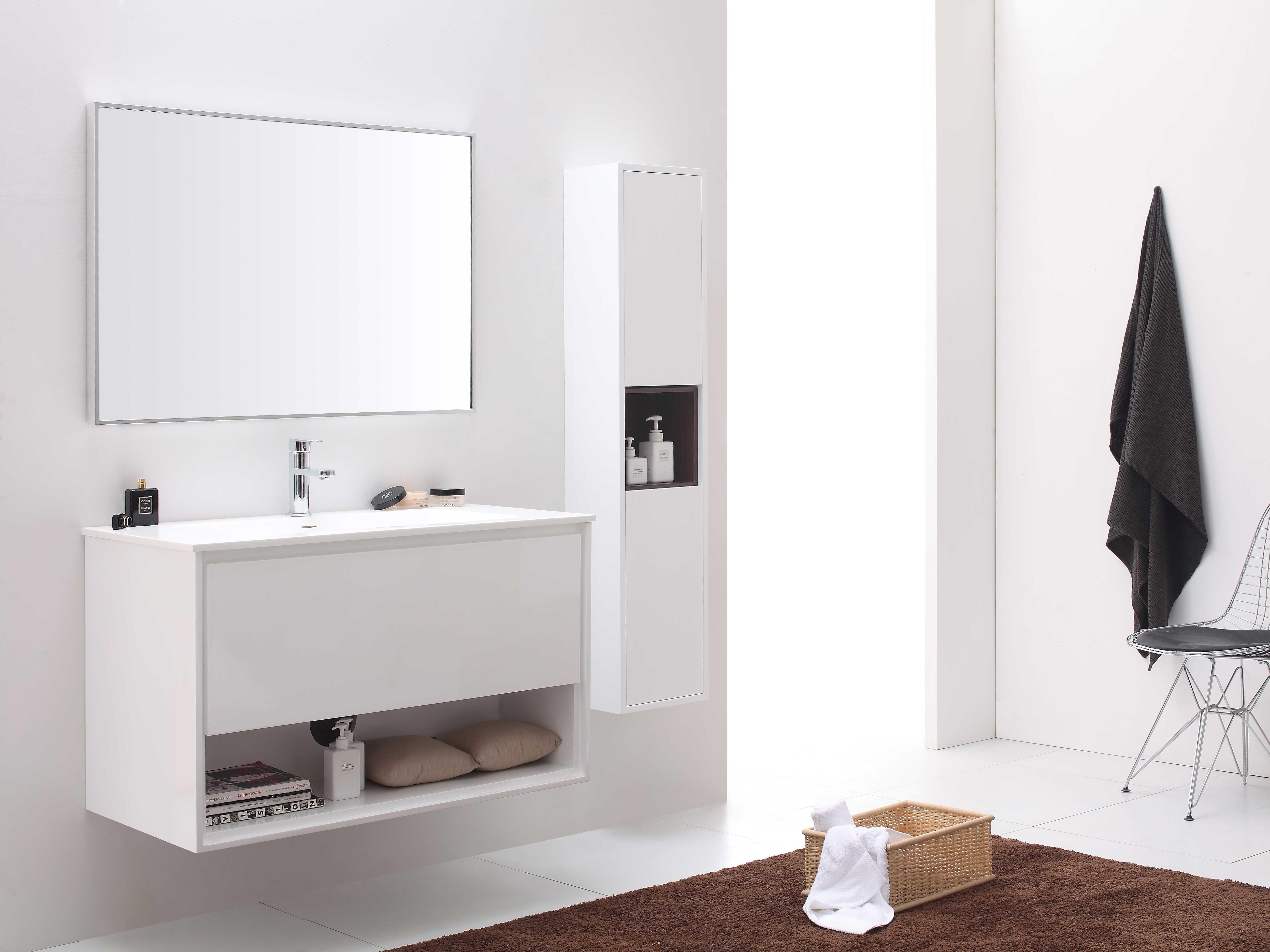 """39.4"""" Sophora Single Bath Vanity - White"""