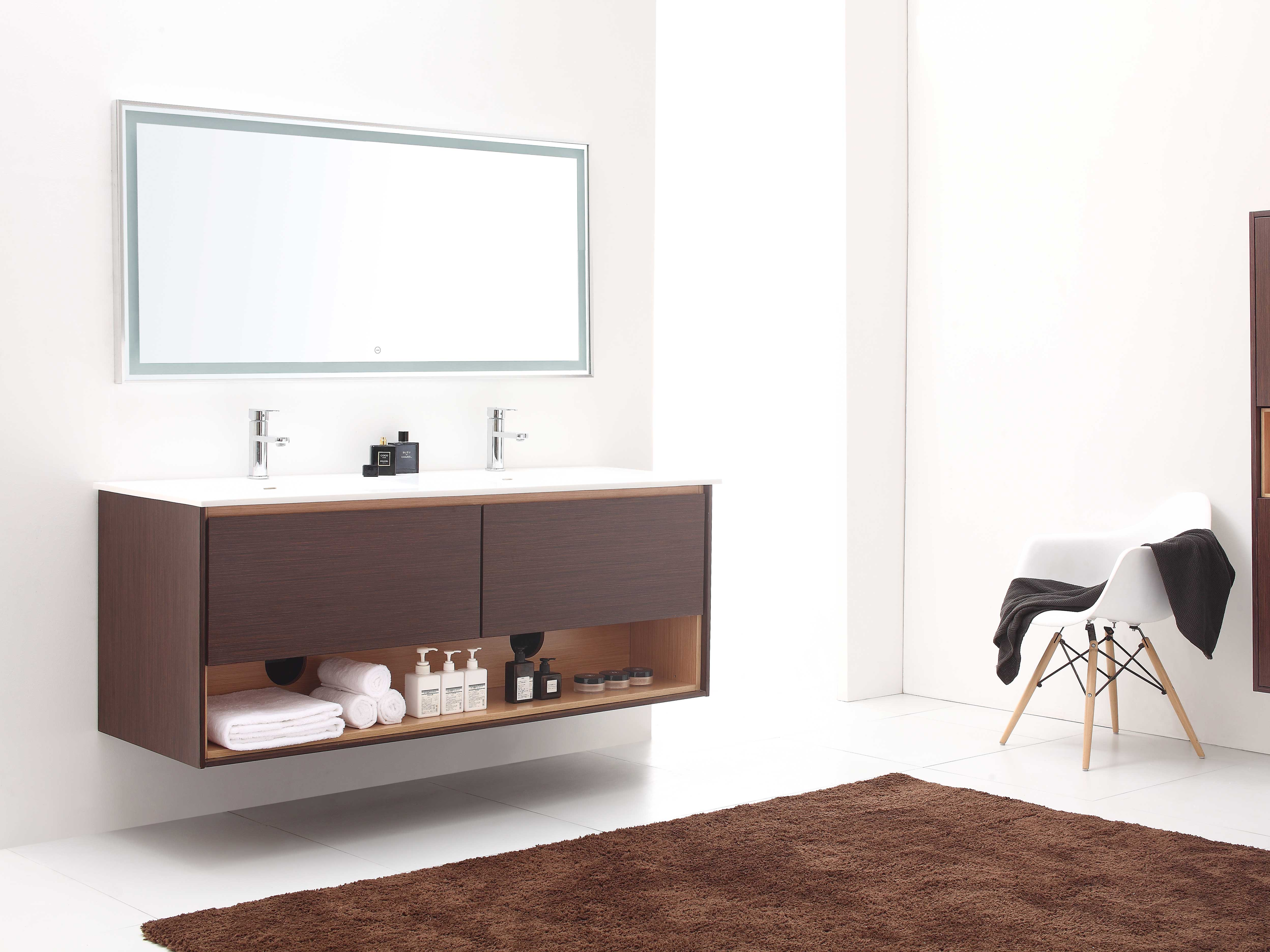 "63"" Sophora Double Sink Vanity - Iron Wood"