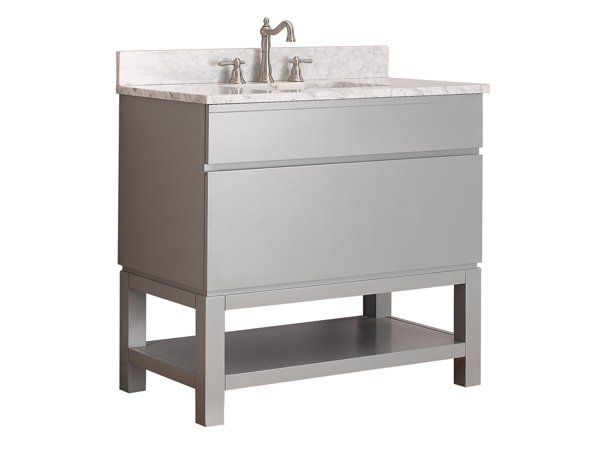"37"" Thalia Single Bath Vanity - Galala Beige Marble"