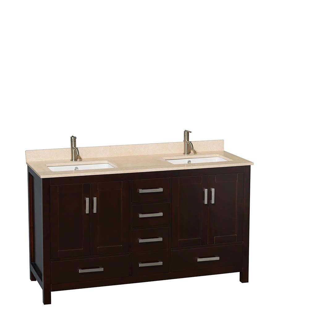 Ivory Marble Top with Square Sinks