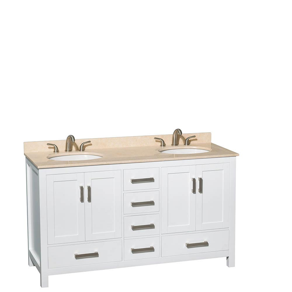 Ivory Marble Top with Round Sinks