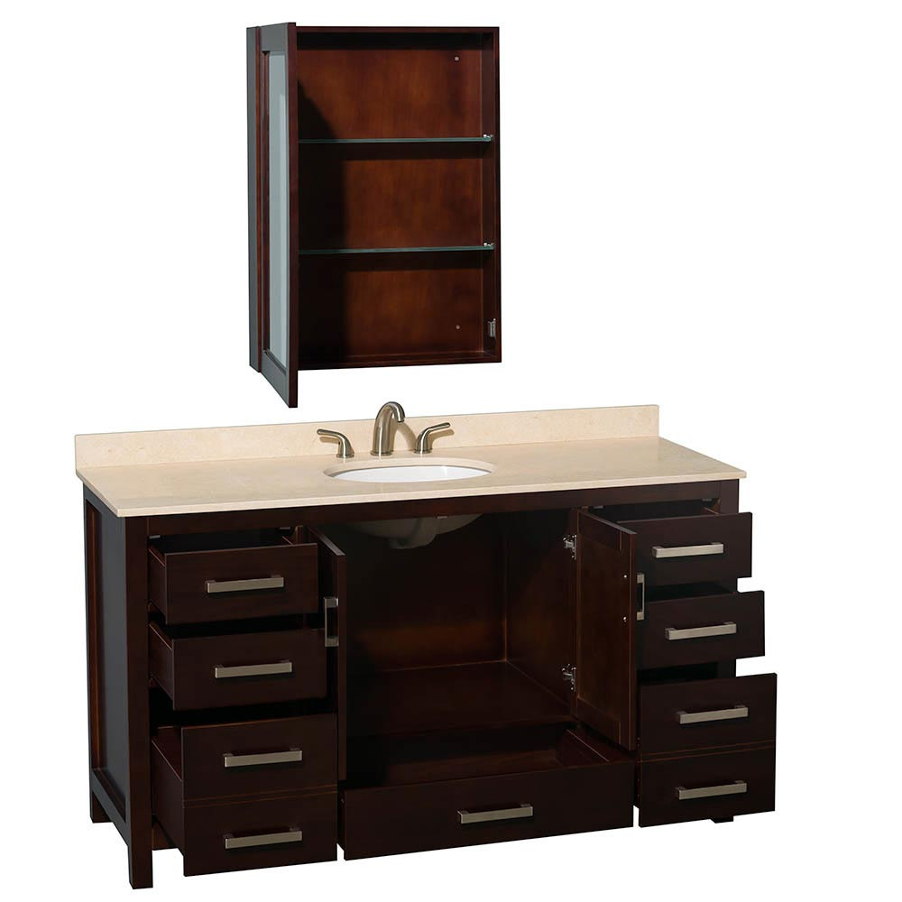 Nine Drawers And Two-Door Cabinet