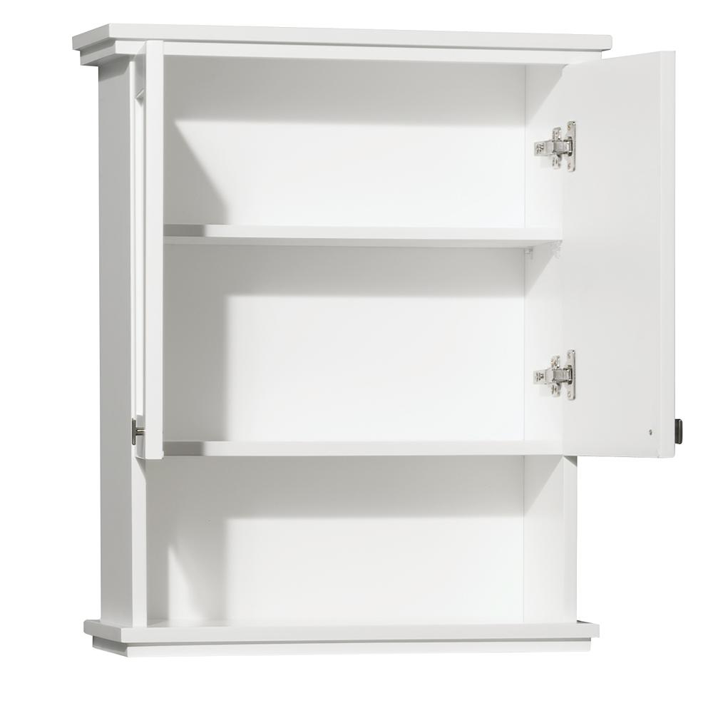 Double-Door Cabinet and Open Shelf