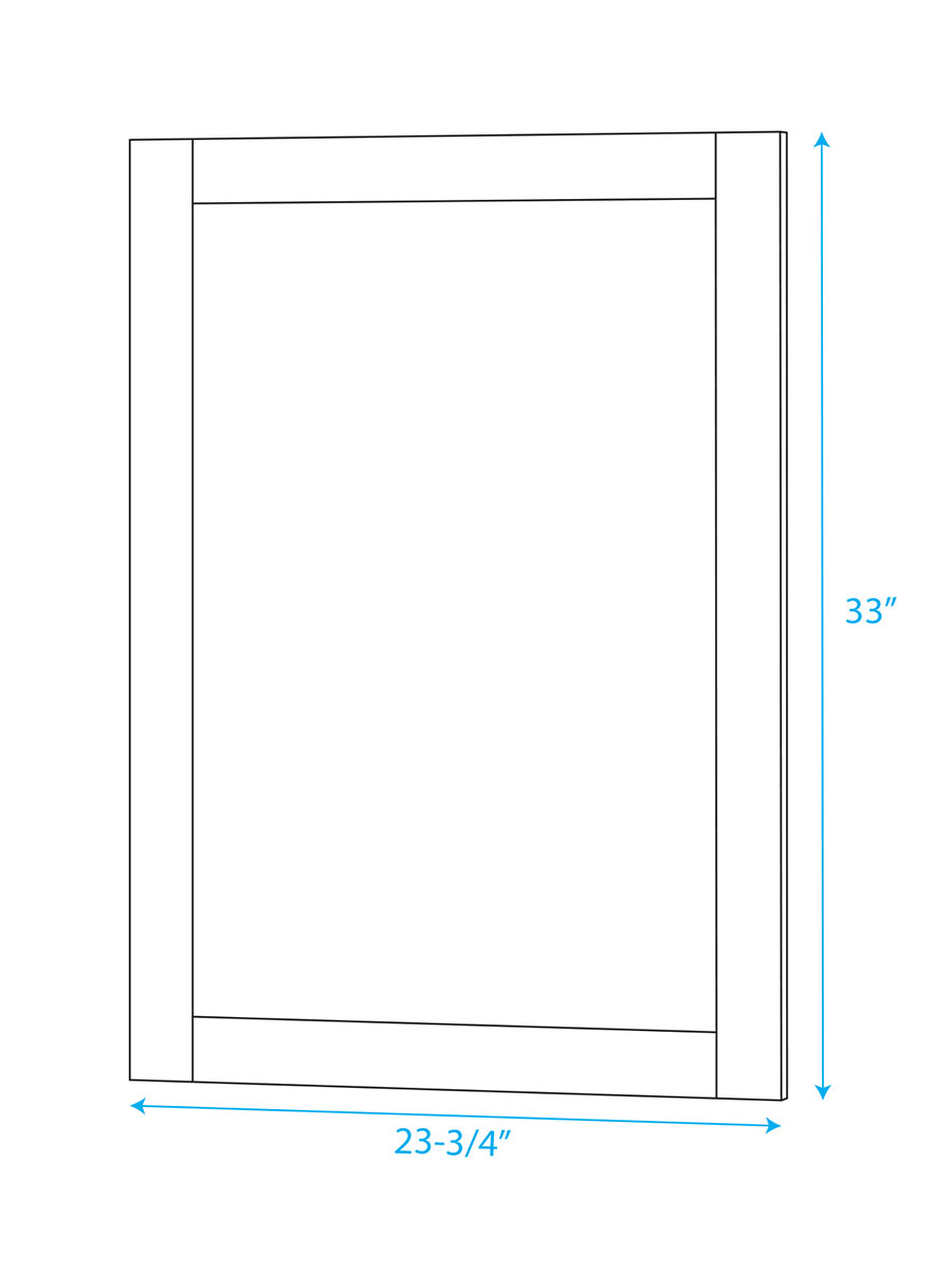 Included Mirror - Dimensions