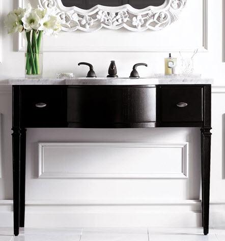 """47.5"""" Mesa Single Pedestal Bathroom Vanity"""