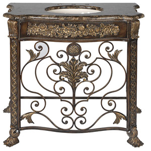 "Wrought Iron Vanity 41"" rovigo single bath vanity - bathgems"