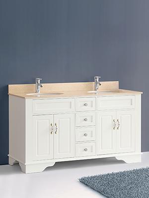 59 Littleton Double Sink Vanity White