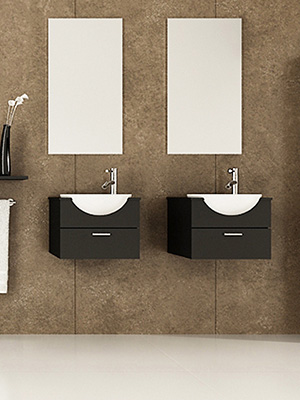 42 Mira Double Wall Mounted Sink Vanity
