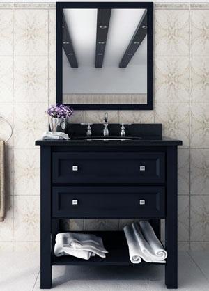 """Bathroom Vanities Black 31"""" aliso creek single bath vanity - bathgems"""
