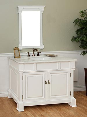 42 Quot Helena Single Bath Vanity White Bathgems Com