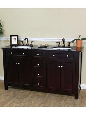 62 lamia double sink vanity dark mahogany - 66 inch bathroom vanity double sink ...