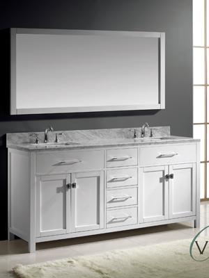vanity double sink 72. 72  Caroline Double Sink Vanity White Bathgems com