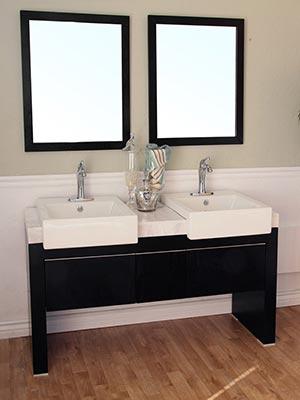 57 75 Quot Serres Double Sink Vanity Bathgems Com