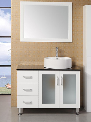 39 malibu single bath vanity white