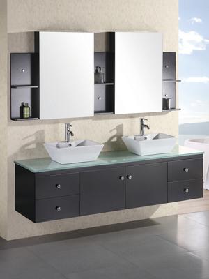 72 Portland Double Vessel Sink Vanity Espresso