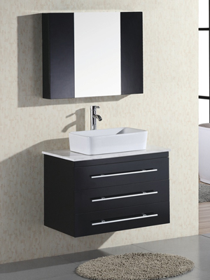 30 portland vessel sink vanity espresso for Bathroom vanity portland oregon