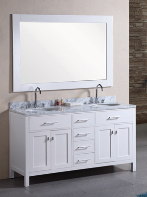 double sink vanity white. 61  London Double Sink Vanity White Bathgems com