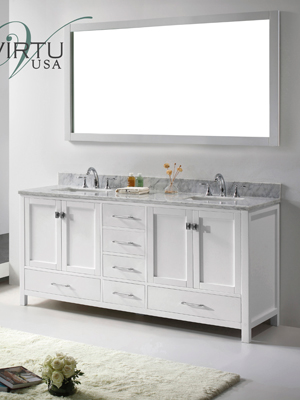 73 Caroline Avenue Double Sink Vanity White