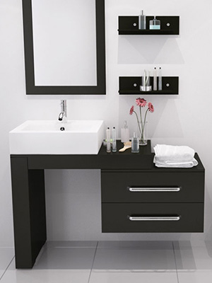 Scorpio bath vanity - Unique bathroom vanities for small spaces ...